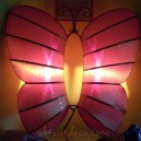 "Applique lampe design en soie ""Papillon"""
